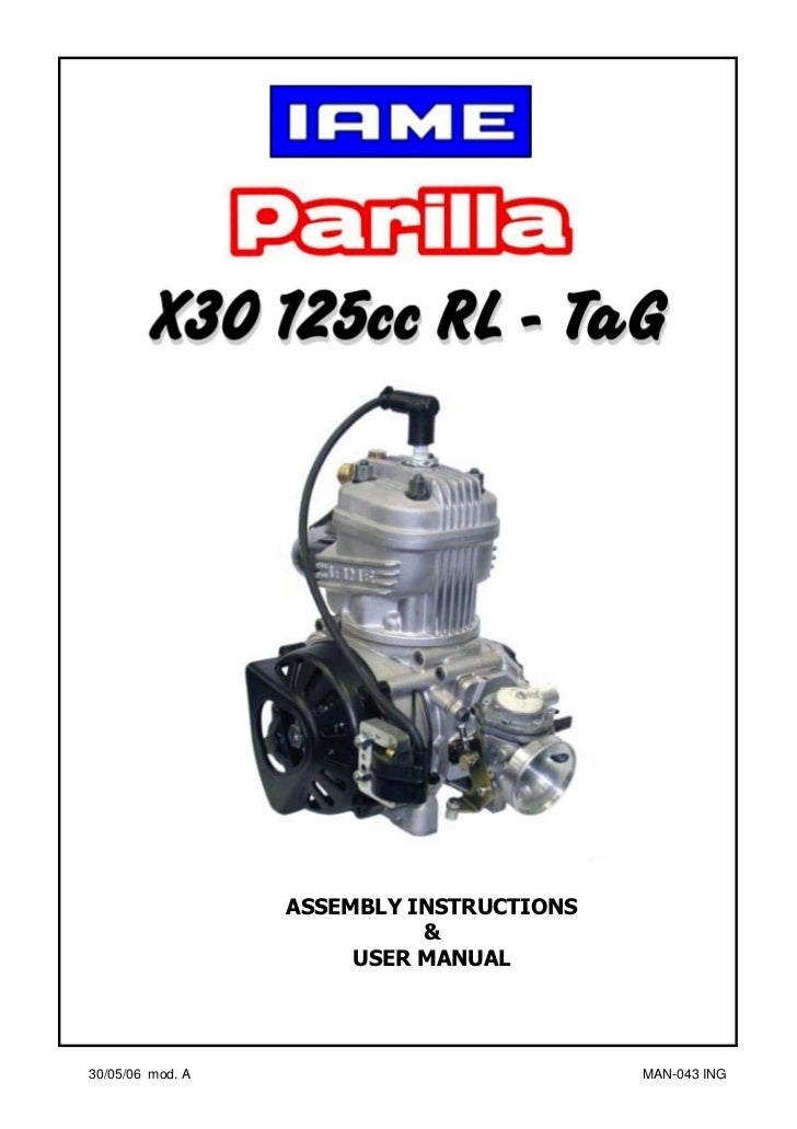 manual go kart parilla engine x30 eng rh slideshare net Vector Go Kart Manco Go Kart