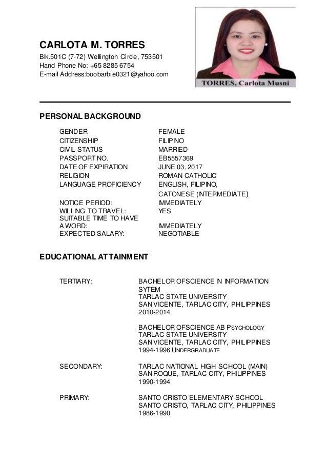 Updated Resume Examples | joriso.nl