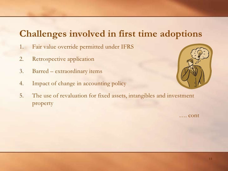 IFRS – Problems and Challenges in First Time Adoption Essay Sample