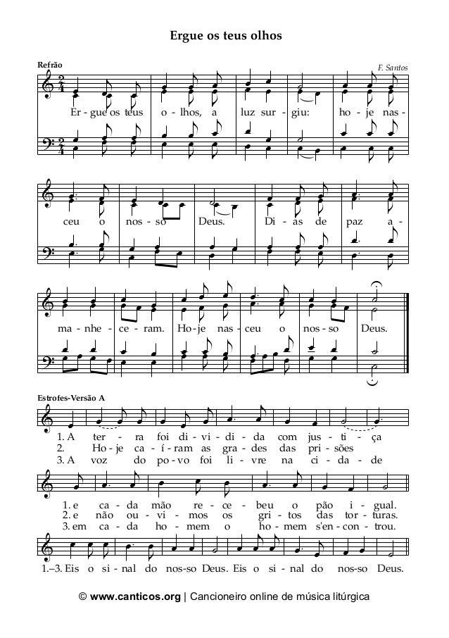 © www.canticos.org | Cancioneiro online de música litúrgica & ? 42 42 œ j œ j œ Er - gue os teus œ J œ J œ œ j œ j œ œ J œ...