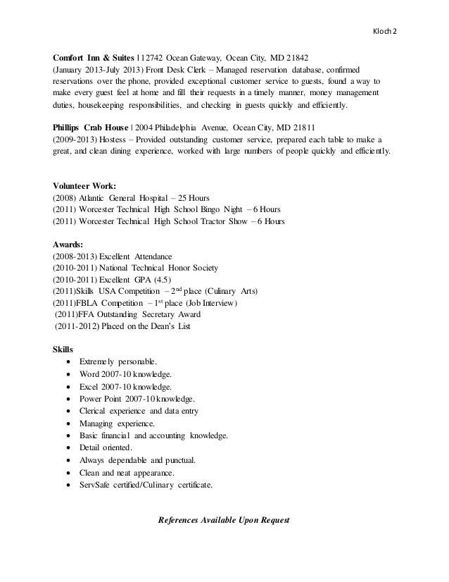 Culinary Arts Resume Skills - Vosvete.Net