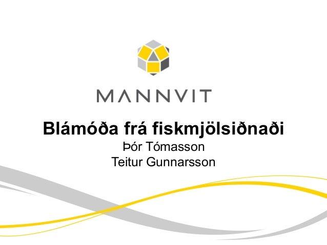 Blámóða frá fiskmjölsiðnaði Þór Tómasson Teitur Gunnarsson