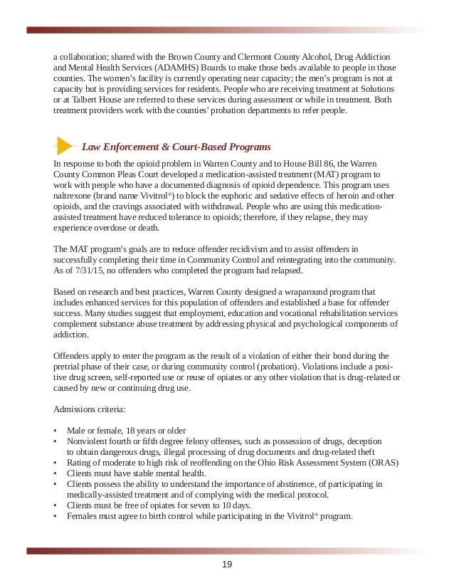 Warren County Opioid Task Force Report Published