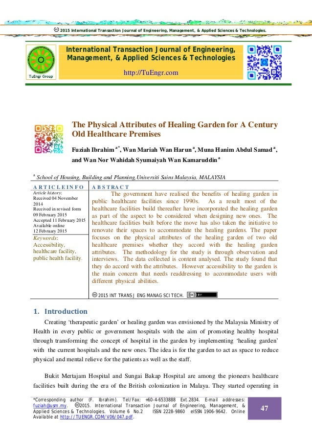 International Transaction Journal of Engineering, Management, & Applied Sciences & Technologies http://TuEngr.com The Phys...