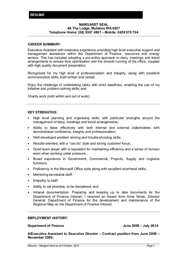 20151005 - Updated Resume Volunteer and or Part-time work