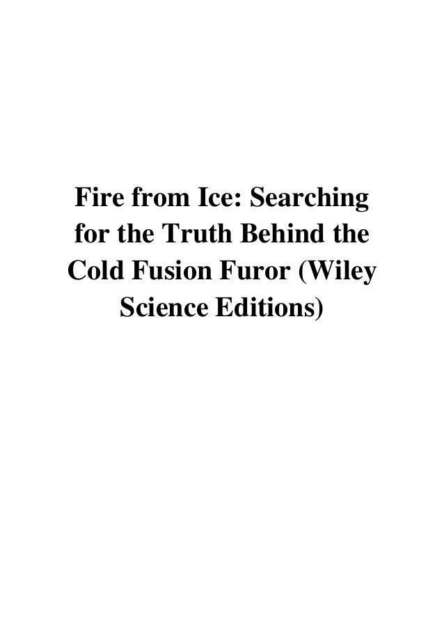 Fire from ice mallove pdf