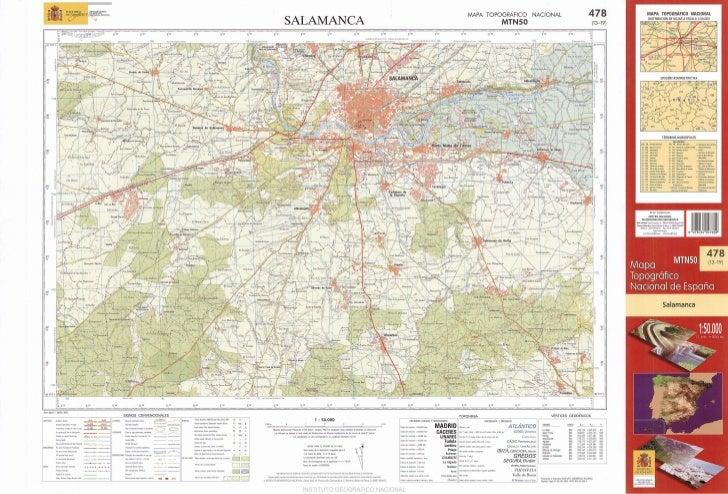 Mapa topográfico Salamanca. MTN 0478 2003