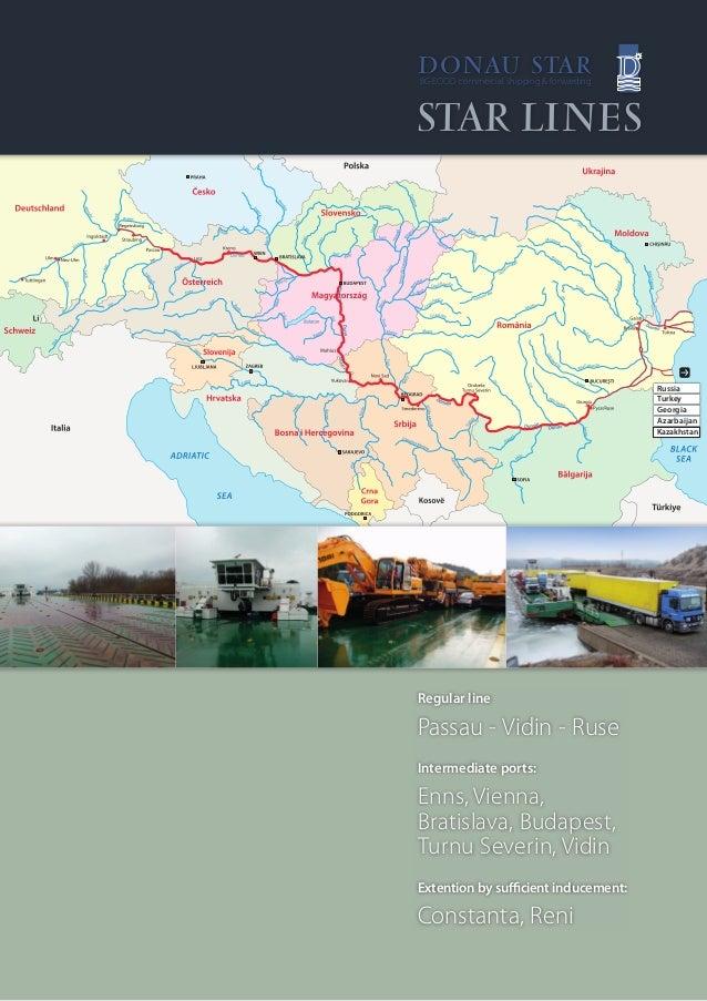 STATAT R LINES DONAU STARBG EOOD commercial shipping & forwarding Regular line Passau - Vidin - Ruse Intermediate ports: E...