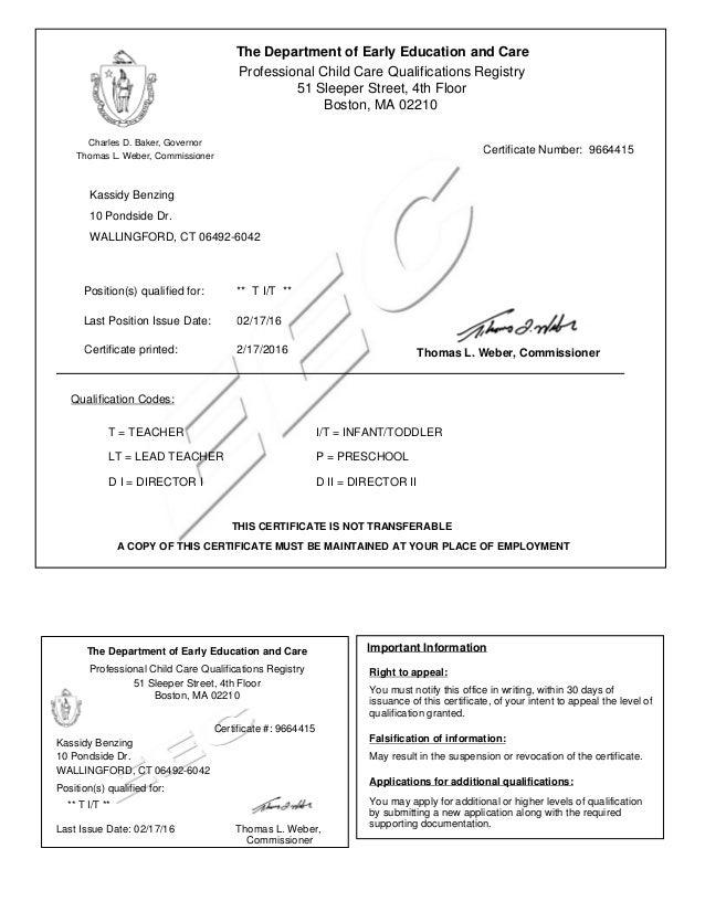 EEC certification