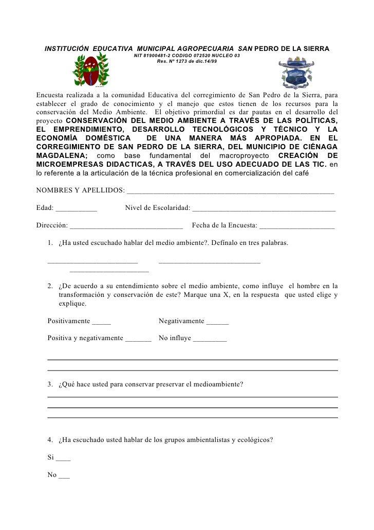 INSTITUCIÓN EDUCATIVA MUNICIPAL AGROPECUARIA SAN PEDRO DE LA SIERRA                               NIT 81900481-2 CODIGO 07...