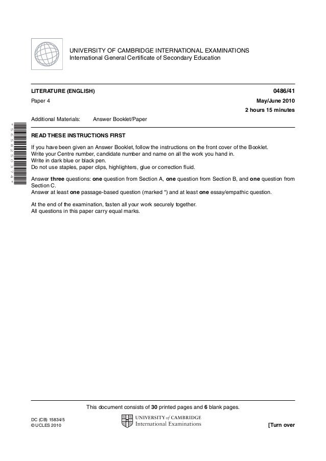 UNIVERSITY OF CAMBRIDGE INTERNATIONAL EXAMINATIONS                                 International General Certificate of Se...