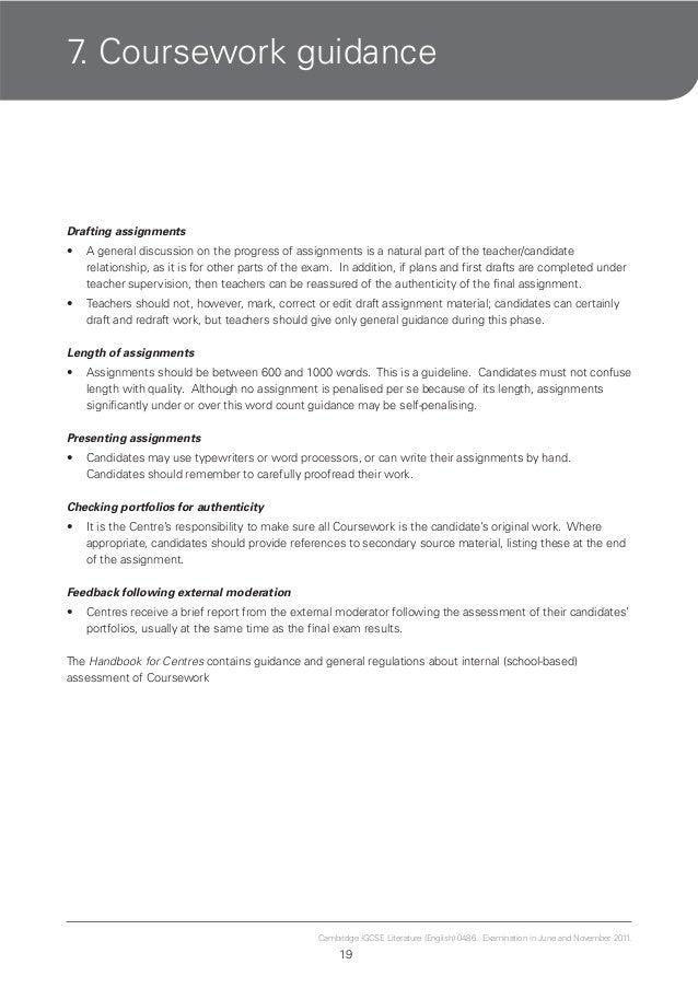 igcse language coursework criteria Igcse english coursework assignment 3 – fresh essays – attractionsxpresscom  english language cambridge igcse english language coursework is designed to meet.