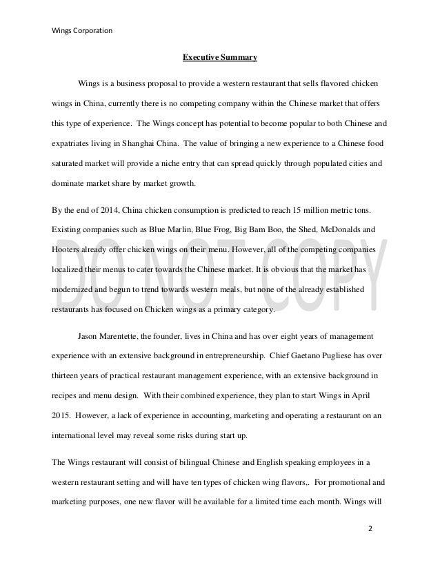 business plan for wingstop franchise