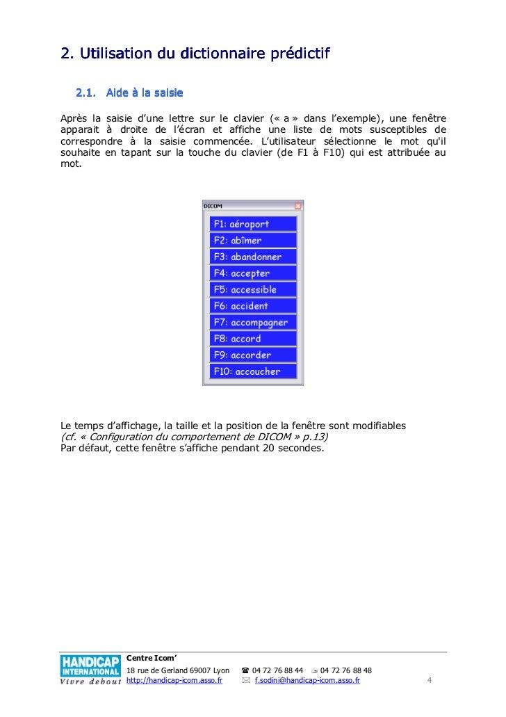 dicom dictionnaire prdictif
