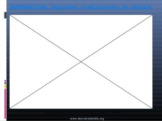 INTRODUCCION: Opiniones tradicionales de Gálatas           http://www.youtube.com/watch?v=op1_DvdPYGI                     ...