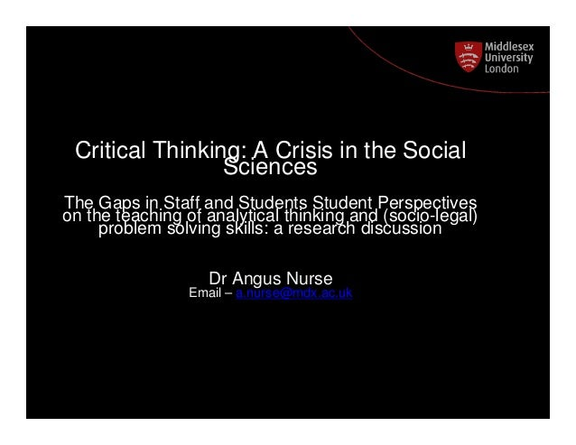 Critical thinking university courses