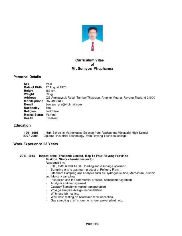 Curriculum Vitae SP