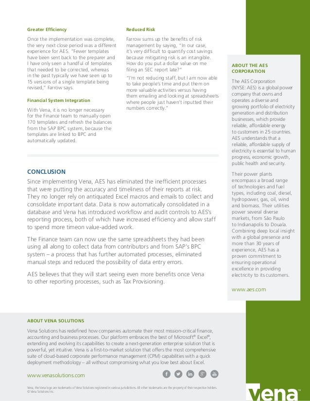 aes case study The alger energy savers program (aes) is a community and michigan energy options this case study reviews the goals for the program.
