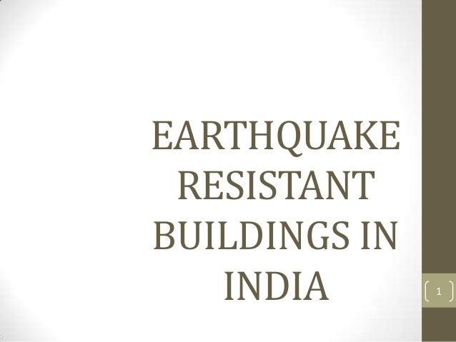 Earthquake Resistant Building Design