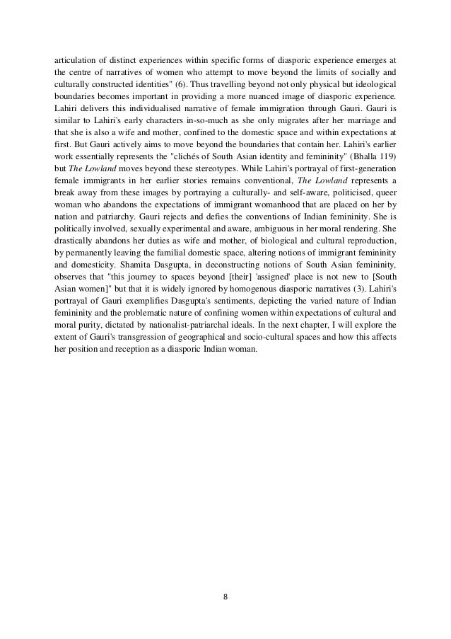 8 articulation of distinct experiences within specific forms of diasporic experience emerges at the centre of narratives o...