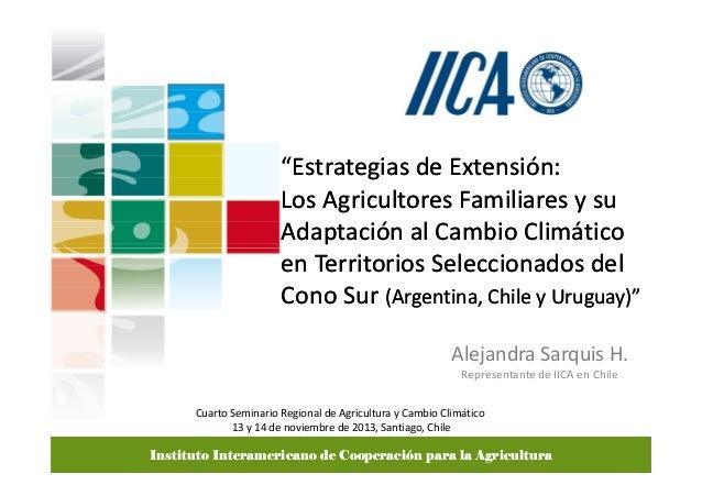 """""""Estrategias de Extensión: Los Agricultores Familiares y su Adaptación al Cambio Climático en Territorios Seleccionados de..."""