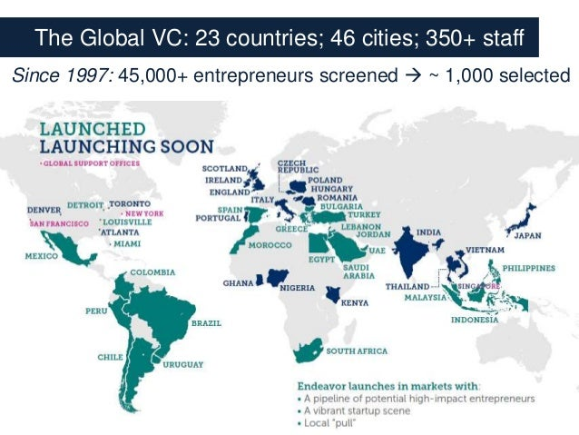 """[PREMONEY MIAMI]  Endeavor >> Allen Taylor , """"The Global VC: How Emerging Markets Can Shortcut to Success...By Learning from Each Other""""  Slide 3"""
