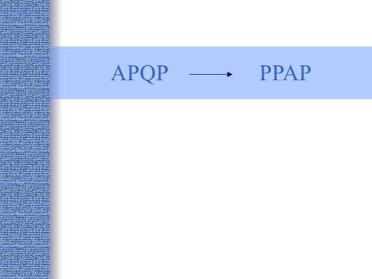 APQP PPAP