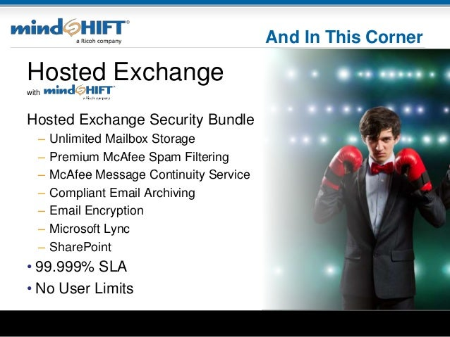 And In This Corner Hosted Exchange with Hosted Exchange Security Bundle – Unlimited Mailbox Storage – Premium McAfee Spam ...