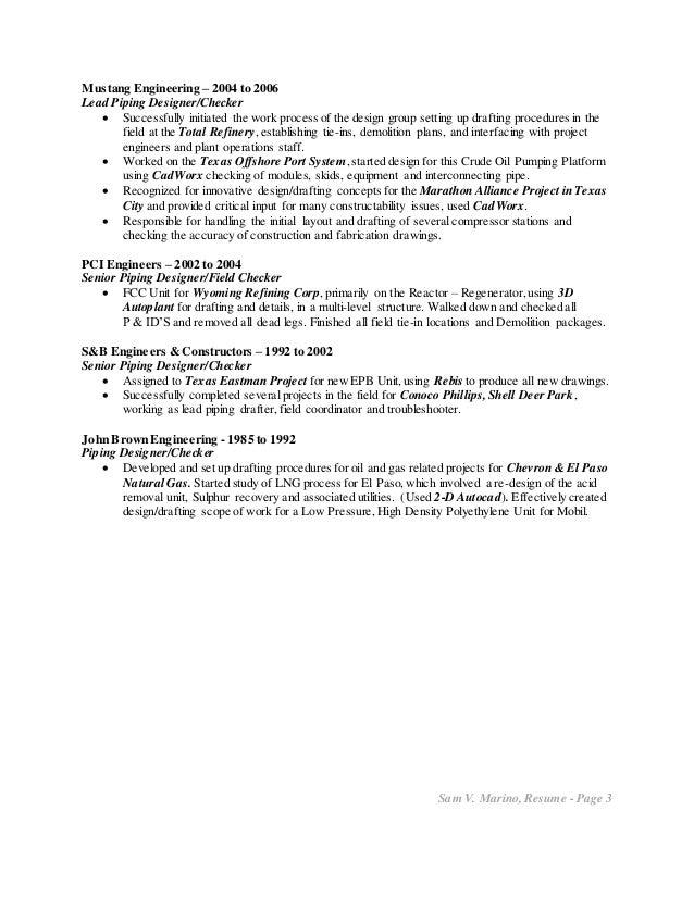 Marino Sam V resume Piping Design 10-15