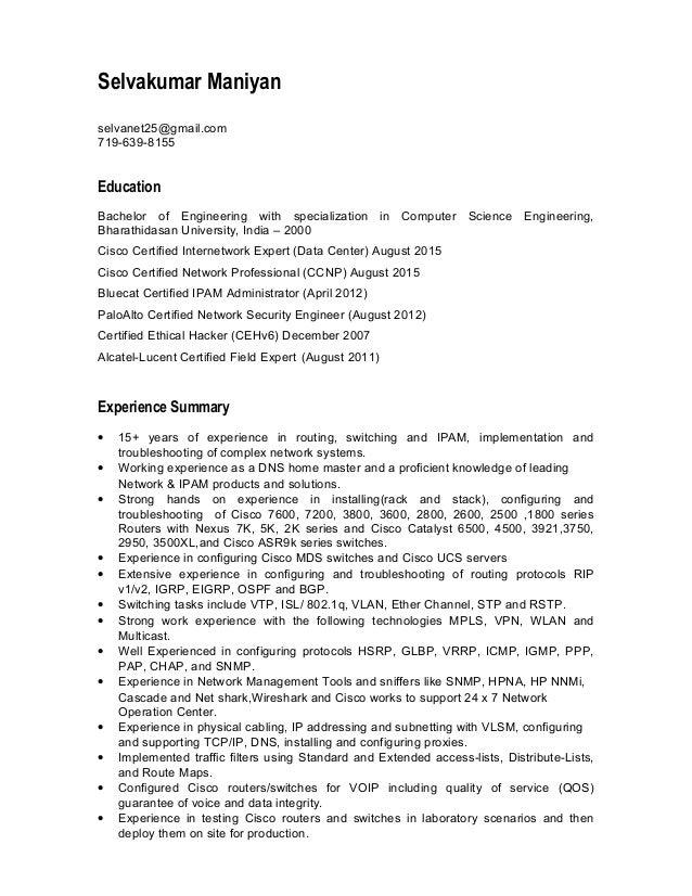 Selvakumar Maniyan - Resume - Jan 2016