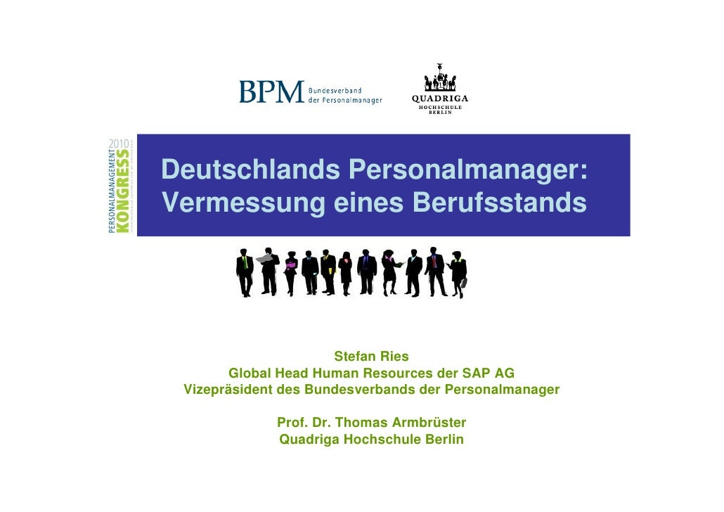 Deutschlands Personalmanager:Vermessung eines Berufsstands                      Stefan Ries       Global Head Human Resour...