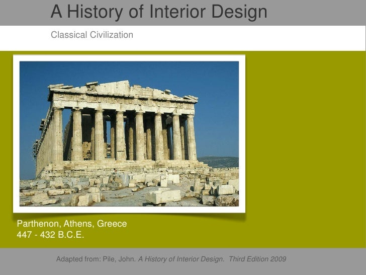 John Pile History Interior Design