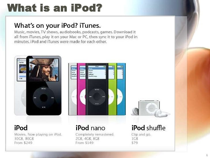 What is an iPod?