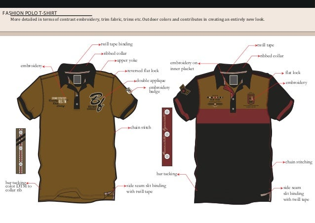 FASHION POLO T-SHIRT More detailed in terms of contrast embroidery, trim fabric, trims etc. Outdoor colors and contributes...