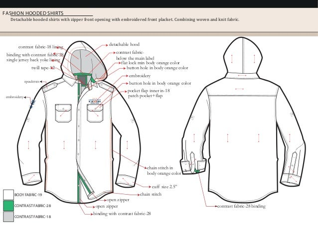 FASHION HOODED SHIRTS Detachable hooded shirts with zipper front opening with embroidered front placket. Combining woven a...