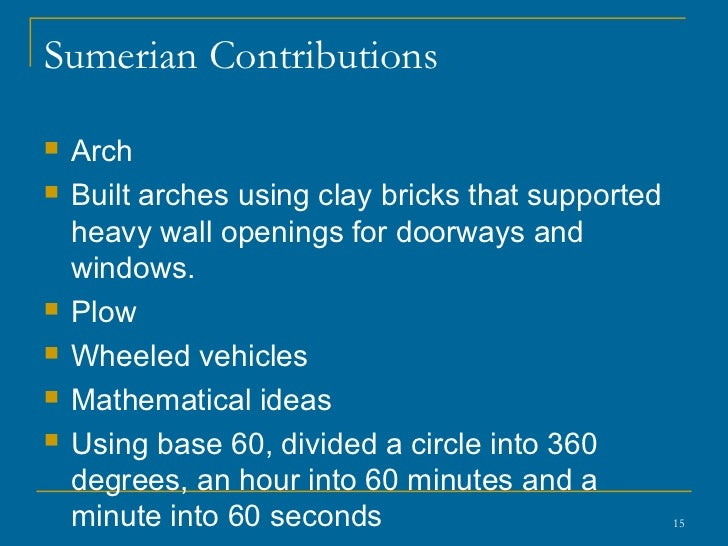River valley civilizations overview 15 sumerian contributions sciox Choice Image