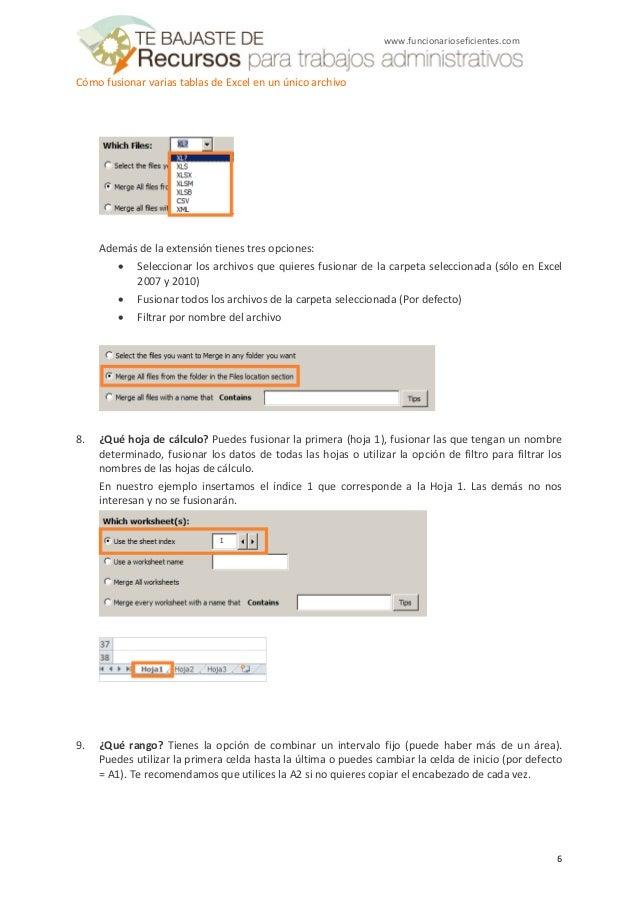 Cómo fusionar varias tablas de excel en un único archivo - Tutorial d…