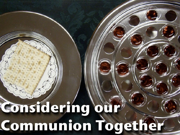 Considering our Communion Together