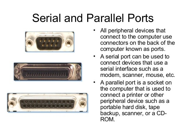04 connector and components - Parallel port and serial port ...