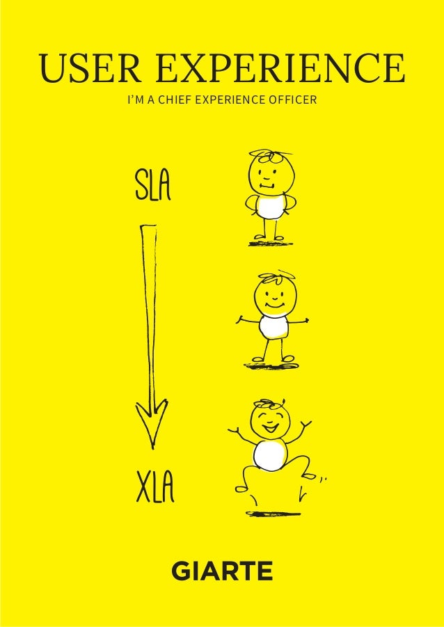 I'M A CHIEF EXPERIENCE OFFICER USER EXPERIENCE SLA xLA