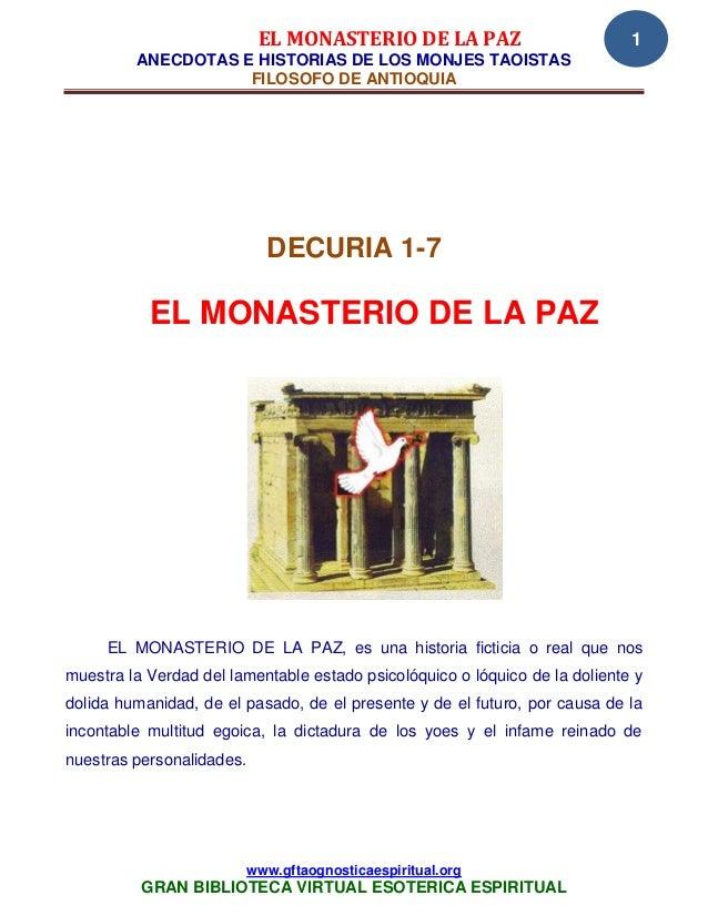 EL MONASTERIO DE LA PAZ                          1         ANECDOTAS E HISTORIAS DE LOS MONJES TAOISTAS                   ...