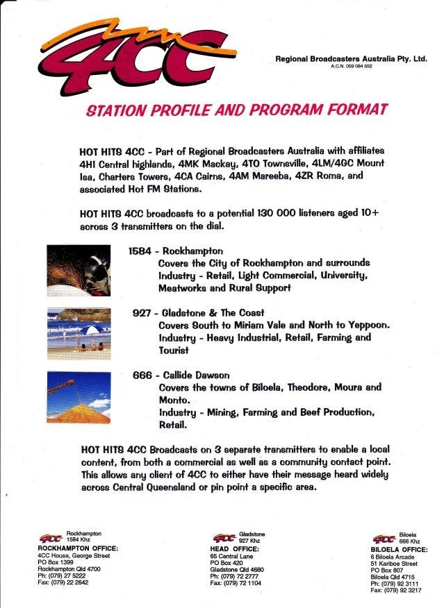 4CC station brief
