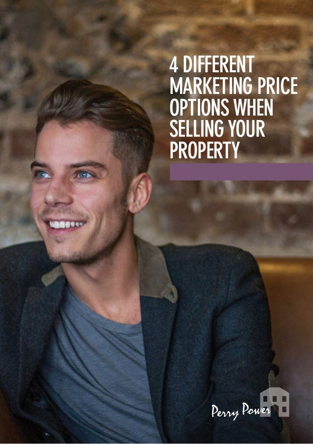 4 different marketing price options when selling your property