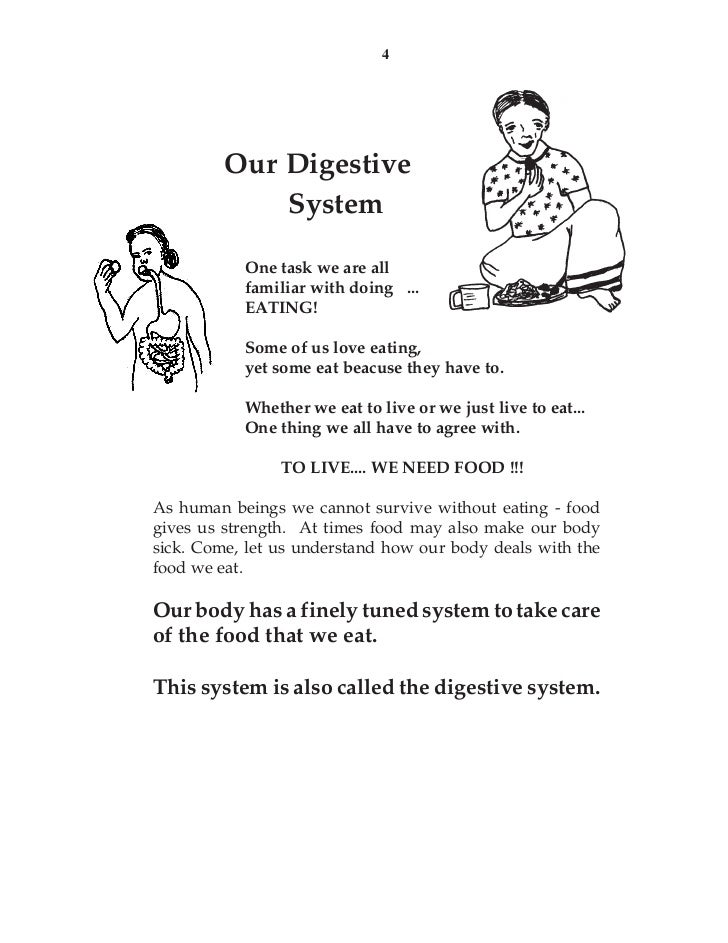 4         Our Digestive             System           One task we are all           familiar with doing ...           EATIN...