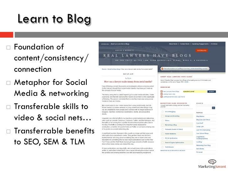 Blogging + Email