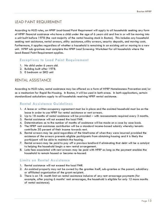 Boston HPRP Guidance 5 10 10TOC – Rental Assistance Form