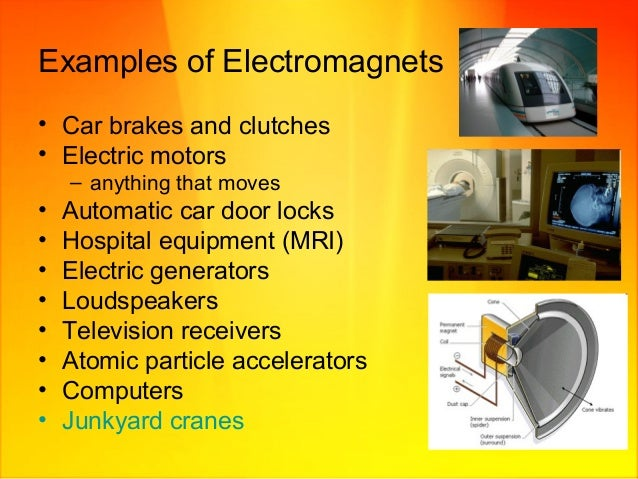 the examples and aspects of electromagnetism Electromagnetic radiation (emr) is produced mostly by the conveniences of the 21st century: electric appliances in our homes, overhead power lines, and radio-frequency devices like cellphones & cellphone towers, wireless internet, electric smart meters, etc.