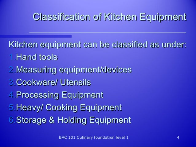04 equipment for Kitchen equipment definition
