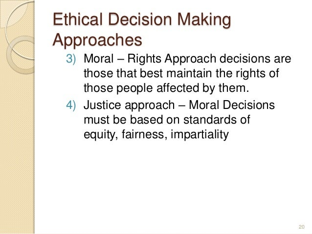 A Guide to Moral Decision Making Essay Sample