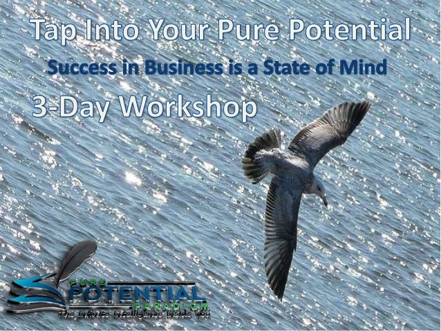 Tap Into Your Pure Potential is like no other workshop or training you've ever experienced and is guaranteed to transform ...
